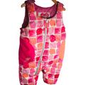 Obermeyer Girls 12-18 M Arielle Bib Pant Toddler Ski Paintbrush Puffer 1 Piece