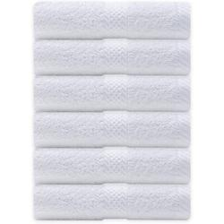 Best Towels Shop CA Hand Towels Set Fade-Resistant Salon Towels Cotton Quick-Dry Hand Towels 16X28 Inches (, 6) 100% Cotton in White   Wayfair