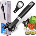 JingJiuTrade Safe Cut Can Opener, Smooth Edge Can Opener Ergonomic Handle, Manual Can Opener in Black, Size 2.36 W x 9.06 D in   Wayfair