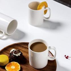 zhong_hua Ceramic Coffee Mug Set, Coffee Cup Set, Coffee Mug w/ Handle, 8 Oz Coffee Cup For Coffee, Tea, Milk, Mulled Drinks, Set Of 6 in White