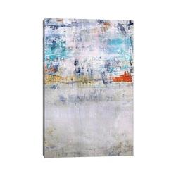 """East Urban Home New Flag by Jodi Maas - Wrapped Canvas Print Canvas & Fabric in Brown/Green, Size 40"""" H x 26"""" W x 1.5"""" D 