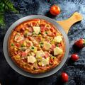 romeidata 16 Inch Pizza Pan For Oven,Aluminum Alloy Round Pizza Tray Pizza Crisper Pan Pizza Baking Tray Bakeware For Home Restaurant Kitchen in Gray