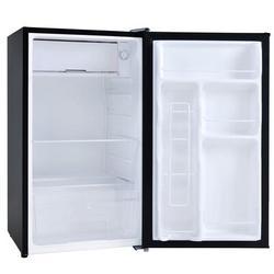 SLEI Compact Refrigerator w/ Freezer, Energy Star 3.2 Cu.Ft Mini Fridge w/ Reversible Door, 5 Settings Temperature Adjustable For Kitchen, Bedroom