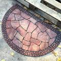 Latitude Run® Decorative Doormat Outdoor Rubber Mat For Front Door Entrance Mat Indoor 2X3 Rug For Front Door Entry Non Slip Mat Outside Doormat Half Round