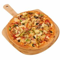 Foundry Select Bamboo Pizza Peel, Wooden Pizza Spatula Paddle, Pizza Cutting Board w/ Handle For Baking Pizza, Bread, Cutting Fruit, Vegetables