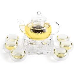 Prep & Savour Mclane Glass Tea Set for 6 People, Size 3.0 H in | Wayfair 06EC77C4D81E4AC2B82AFF059D9200EF