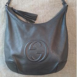 Gucci Bags | Gucci Soho Leather Chain Medium Hobo Bag | Color: Gray | Size: Os