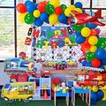 APERIL Balloon Kit Transportation Theme Happy Birthday PartyReusable Airplane Car Train Aluminum Foil Balloon Set Decoration Party Needs | Wayfair