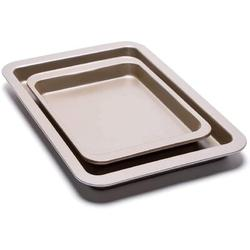 futurecitytrading Nonstick Cookie Sheet Baking Pan 2Pc Large & Small Metal Oven Baking Tray, Size 0.78 H x 9.0 D in | Wayfair 3F006Q07VWRZ4H9