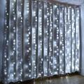 AGPtEK 300 Light Led Fairy Curtains String Lights Christmas Party Wedding Decoration Cool in White, Size 118.0 H x 118.0 W in | Wayfair