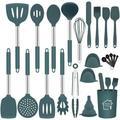 fedigorlocn Silicone Kitchen Cooking Utensils Set w/ Holder,23 Pcs Heat Resistant Kitchen Utensil Set,BPA Free Kitchen Utensils Spatula Set | Wayfair