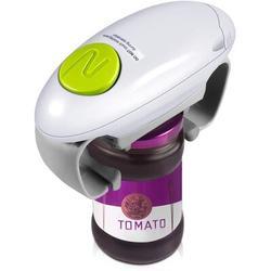 JGZ Electric Jar Opener, Restaurant Automatic Jar Opener For Seniors w/ Arthritis, Weak Hands, Bottle Opener For Arthritic Hands Plastic in White