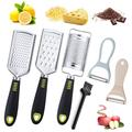 slai Cheese Grater Handheld, Kitchen Grater Set, Set Of 5 Stainless Steel Grinders Purpose Kitchen Food Grater For Cheese, Chocolate | Wayfair