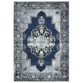 World Menagerie Cascata Oriental Area Rug Polypropylene in Blue/Gray, Size 0.51 D in | Wayfair FAE9C7799E5C428B82A982CFE9A2F95F
