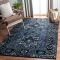 World Menagerie Canika Oriental Area Rug Polypropylene in Blue/Gray, Size 1.18 D in | Wayfair CB41EF9FD67C492AB479E3A8D3346431