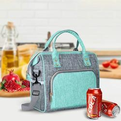 Latitude Run® Insulated Lunch Bag, Reusable Lunch Bags For Women Leakproof Lunch Bag Large Lunch Bag w/ Adjustable Shoulder Strap in Gray   Wayfair