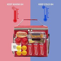 Latitude Run® Lunch Bag,Lunch Box,Insulated Lunch Bag Box,Lunch Box For Men/Women,Lunch Bag For Women/Men,Reusable Bag,Beach Cooler Bag,Lunch Bag Cooler
