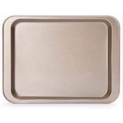 zhulinjubao Nonstick Cookie Sheet Baking Pan 2Pc Large & Small Metal Oven Baking Tray | Wayfair C2322O07VWRZ4H9