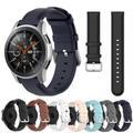 Bracelet de rechange en cuir, pour Samsung Galaxy Watch 3 41 45mm 46 42mm, Bracelet de montre 22