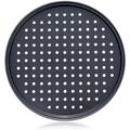 Battle Cow 13 Inch/32CM Nonstick Carbon Steel Pizza Pan, Pizza Pans,Pizza Tray Bakeware Perforated Round For Home Kitchen | Wayfair DQV25407VZ4LYFP