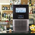Sunsent Freestanding Commercial Ice Maker Machine 66LBS/24H, Auto-Clean Built-In Automatic Water Inlet Clear Ice Cube Maker w/ Scoop | Wayfair