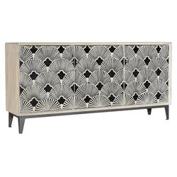 """Hooker Furniture TV Stand for TVs up to 70"""" Wood in Black/Brown, Size 34.0 H in 