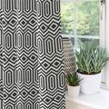 McalisterTextiles FALSE Pencil Pleat Room Darkening_Mcalister Textiles Colorado Curtains 2 Panels in Gray/Black, Size 90.0 H in   Wayfair