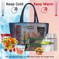 tokyolongco Lunch Bag Insulated Lunch Bags Adult Lunch Box Large Thermal Lunchbox Tote Bag Set w/ Multi Zipper Pockets in Blue | Wayfair