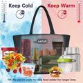 tokyolongco Lunch Bag Insulated Lunch Bags Adult Lunch Box Large Thermal Lunchbox Tote Bag Set w/ Multi Zipper Pockets | Wayfair KGMKD4O8KR7TRS9-01