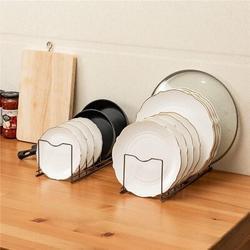 Prep & Savour Pot Lid Holder Pan Pot Rack Kitchen Organizer Rack,Pot Lids Holder Kitchen Organizer For Pots & Pans, Lids, Plates, Cutting Boards