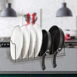 Rebrilliant Pot Lid Holder Pan Pot Rack Kitchen Organizer Rack,Pot Lids Holder Kitchen Organizer For Pots & Pans, Lids, Plates, Cutting Boards