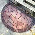 Loon Peak® Decorative Doormat Outdoor Rubber Mat For Front Door Entrance Mat Indoor 2X3 Rug For Front Door Entry Non Slip Mat Outside Doormat Half Round