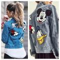 Zara Jackets & Coats | Mickey Minnie & Friends Patch Denim Jean Jacket | Color: Blue | Size: Various