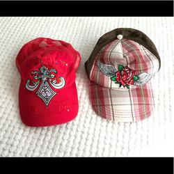 Disney Accessories | Disney Hats Cap Hats | Color: Pink/Red | Size: Os