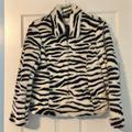 Nine West Jackets & Coats | Nine West Faux Fur Zebra Print Jacket Xs Vintage! | Color: Black/White | Size: Xs