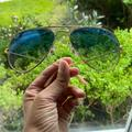Ray-Ban Accessories | Aviator Gradient Blue Lens Gold Frame | Color: Blue/Gold | Size: Os