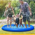 MingshanAncient Inflatable Splash Pad Sprinkler For , Sprays Up To 96 Inch, Baby Pool For Learning, Inflatable Water Toys in Blue | Wayfair