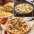 zhulinjubao Stainless Steel Round Pizza Pan,Carbon Steel Non-Stick Oven Pizza Plate Pan Bakeware Tray Mold Deep Dish Pizza PanStainless Steel