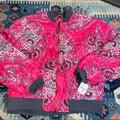 Free People Jackets & Coats   Nwt Free People Bomber Jacket Pink Quilted Paisley   Color: Gray/Pink   Size: L