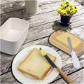 kungreatbig Butter Sealed Box Ceramic Butter Plate w/ Wooden Lid & Knife Cheese Storage Plate Butter Plate Container Box in White | Wayfair