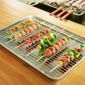 romeidata Large Baking Sheet w/ Cooling Rack Stainless Steel Baking Tray Cookie Sheet Oven Tray Pan 19.6 X 13.5 X 1.2 Inches, Rust Free & Less Stick