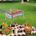 SWU Charcoal Grill Barbecue Portable BBQ - Stainless Steel Folding BBQ Grill Camping Grill Tabletop Grill I Grill Camping Cooking Small Grill
