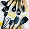 lameishuju Kitchen Silicone Utensil Set,10Pcs Silicone Cooking Utensils Set,Food Grade Safety Silicone Utensils,480℉Heat Resistant Kitchen Tools