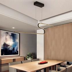 Orren Ellis Simple Modern Pendant Light Home Art Restaurant Lamp Dining Table Bar Chandelier Metal in Black, Size 47.0 H x 39.3 W x 7.9 D in Wayfair