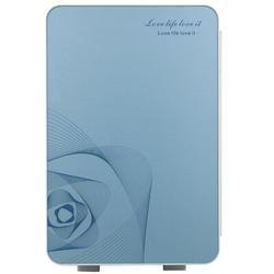 YANCAT 20L Portable Small Mini Fridge,Car Refrigerator Mini Cold & Warm Refrigerator Plastic in Blue, Size 16.5 H x 13.0 W x 10.6 D in | Wayfair