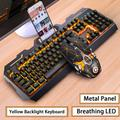 Clavier de jeu filaire hybride rétroéclairé RGB LED, USB 104, adapté aux PC de jeu, ordinateur