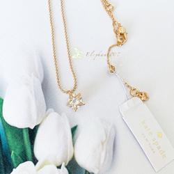 Kate Spade Jewelry | Kate Spade Necklace Gold Crystal Star Necklace | Color: Gold | Size: Os