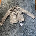 Jessica Simpson Jackets & Coats | Metallic Gold Leather Jacket. Size 16 Girls. Nwt | Color: Gold | Size: 16g