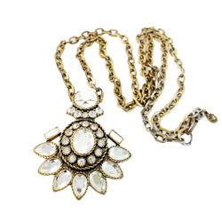 J. Crew Jewelry   J. Crew Pendant Necklace Long Necklace Rhinestones   Color: Gold   Size: Os