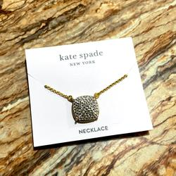Kate Spade Jewelry | Kate Spade New York Pave Pendant Necklace | Color: Gold | Size: Kate Spade New York Pave Pendant Necklace